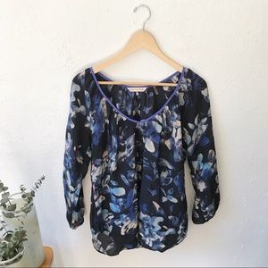 Rebecca Taylor • 100% Silk Floral Blouse